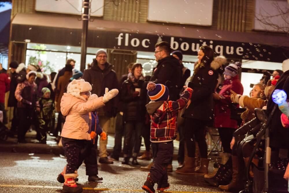 All Is Bright, Gathering crowds | 124 Street Edmonton, Alberta